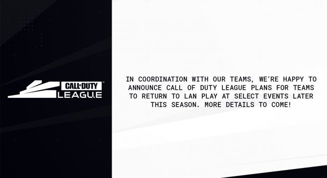 Call of Duty League will be getting LAN events later this year