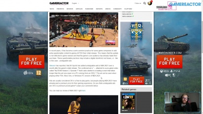 GRTV News - Ads in NBA 2K21
